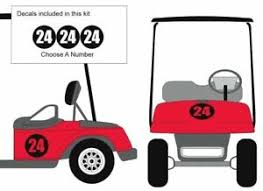 Choose Number Custom Bubble Golf Cart Decal Sticker Ez Go Club Car Yamaha Hdk Ebay