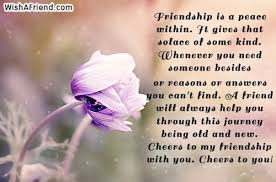 friendship is a peace in it best friend quote