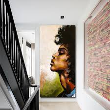 Mutu Figure Oil Canvas Painting Home Decor Homas Saliot Black Woman Wall Art Posters And Prints Pictures On The Wall No Frame Painting Calligraphy Aliexpress