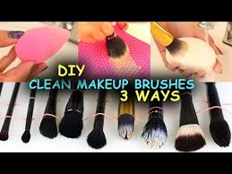 clean makeup brushes beauty blenders