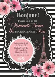 Invitacion De Paris Paris Fiesta De Cumpleanos Torre Eiffel