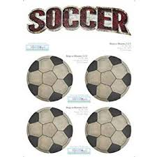 Buy Soccer Ball Decal Stickers Boys Sport Theme Boy Wall Graphics Removable Vinyl Mural Sticker Decals Childrens Nursery Baby Room Decor Kids Bedroom Walls Decorations Balls Sports Childs Murals Girls Art In