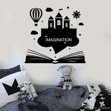Imagination Vinyl Wall Decal Kids Room Book Fantasy Castle Wall Stickers Decor Reading Room Living Room Decoration Creative Vinyl Decals Wall Vinyl Decals Walls From Joystickers 14 2 Dhgate Com