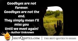 goodbye s not forever quote picture