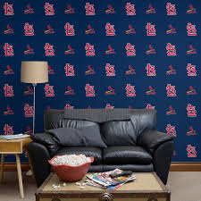st louis cardinals logo pattern blue