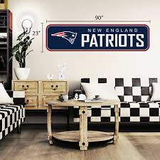 New England Patriots 90x23 Team Repositional Wall Decal Long Design Ebay