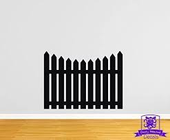 Amazon Com Overly Attached Decals Picket Fence 24 Wall Decal Black Home Kitchen