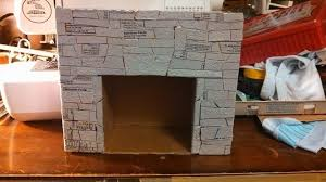 fake fireplace out of cardboard