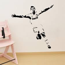 2017 Soccer Wall Sticker Football Player Decal Sports Decoration Mural For Boys Kids Room Decor Free Shipping Decoration Murale Soccer Wallwall Sticker Aliexpress