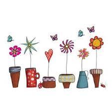 Diy Art Wallpaper Garden Flower Pot Plant Culture Decal Wall Stickers Bleubazaar Eu
