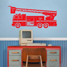 Fire Truck Wall Decal Car Wall Decoration Stickers Kids Room Toys Decor Vinyl Decals For Boy Nursery Bedroom Boys Room Tree Sticker Wall Art Tree Stickers For Wall From Joystickers 11 04 Dhgate Com