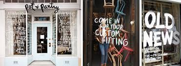 Social Media Marketing Tool Boutique Window Type Decal Window Displays