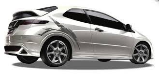 Blade Automotive Vinyl Graphics Universal Fit Decal Stripes Kit Pictured With Honda Civic Vinylgraphicspro Vinyl Graphics Stripes Decal Kits