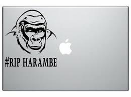 Harambe Vinyl Decal Rip Sticker Colors Cincinnati Zoo Gorilla Killary Car Laptop Car Truck Decals Stickers Moonnepal Com