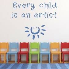 Every Child Is An Artist Nursery Quote Wall Decal Sticker Ws 34272 Ebay