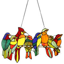co z stained glass birds brood tiffany