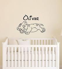 Custom Name Simba Baby Wall Decal Disney Lion King Etsy