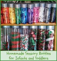 make sensory bottles for infants and