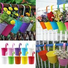 30 Pcs Metal Hanging Pots Plant Flower Bucket Balcony For Garden Fence Uk N6j0b Ebay Metal Flower Pots Hanging Flower Pots Hanging Flower Baskets
