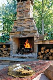 outdoor stone fireplaces outdoor