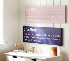 Sibling Wall Plaques Pottery Barn Kids