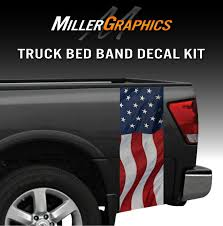 Waving American Flag Truck Bed Band Decal Graphic Sticker Kit Ebay