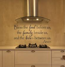 Bless The Food Before Us Wall Decal Kitchen Wall Decal Etsy