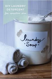 diy laundry detergent for sensitive