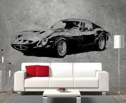 Ferrari 250gto Retro Vintage Sticker Wall Art Boys Bedroom Living Room Garage Sticker Wall Art Retro Vintage Retro