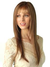 synthetic hair wig side part