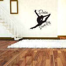 Ballerina Decor Ballet Dancer Wall Decal Silhouette Girls Dream Big Dance Decorative Pillow Sutanrajaamurang
