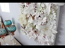 diy canvas wall art diy flower wall