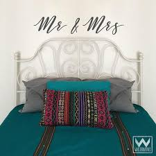 Mr Mrs Saying Large Quote Vinyl Wall Decals For Decorating Bedroom Wallternatives