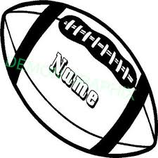 Personalized Name Football Vinyl Decal Sticker Sports Send Message With Name Ebay