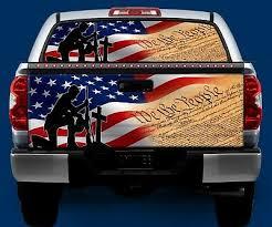 Patriotic Constitution Tailgate Or Window Truck Vinyl Graphic Decal Wrap Ebay