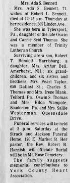 Ada Thomas obituary - Newspapers.com