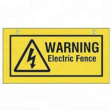 China Rechargeable Electric Fence Warning Signs For Farm On Sale China Electric Plastic Sign Warning And Electric Plastic Sign Warning Custom Price