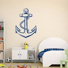 Nautical Anchor Wall Decal Sea Ocean Wall Decal Stickers Etsy Nautical Nursery Wall Anchor Wall Decor Hunting Decor Bedroom