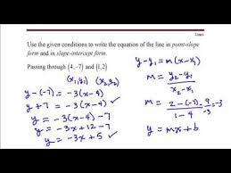 write the equation of the line that