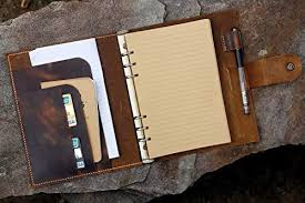 personalised a5 leather binder notebook