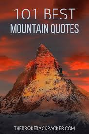inspirational mountain quotes about epic journeys