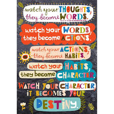 watch your thoughts pop chart classroom quotes education quotes