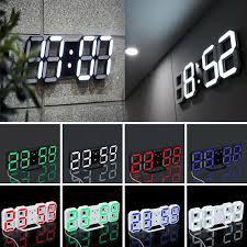 led wall clock alarm clock