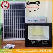 Đèn Led năng lượng mặt trời JD 8300L-300w phiên bản nâng cấp không dùng  điện,chống nước IP67 Tặng kèm dây nối 5 mét giảm chỉ còn 2,890,000 đ