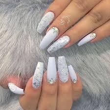 8 white acrylic nail designs 458