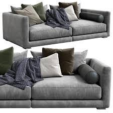 poliform bristol sofa 3d model