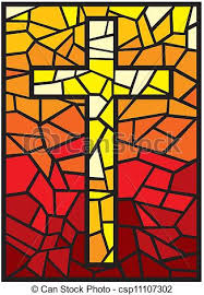 vector stained glass cross cross in