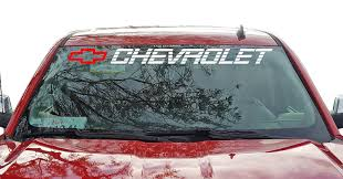 Buy Chevrolet Windshield Sticker Vinyl Decal Chevy Ss 1500 2500 350 454 Truck Lettering In Cheap Price On Alibaba Com
