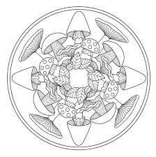 Mandala Paddenstoelen Kleurplaten Mandala Kleurplaten