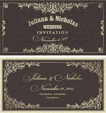 decorative pattern wedding invitation